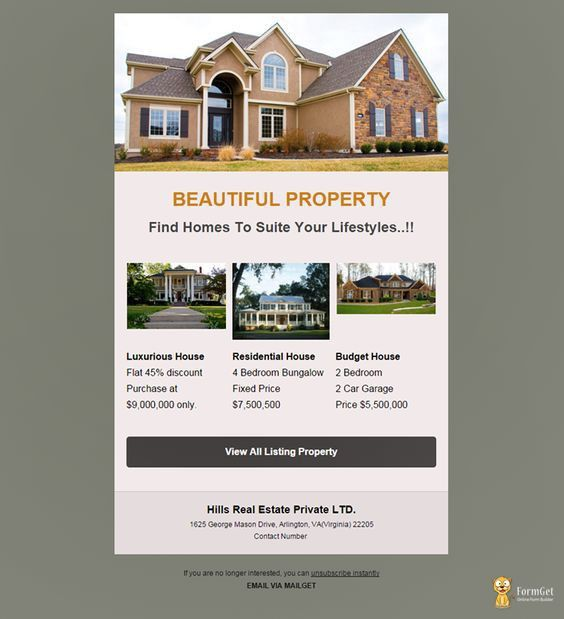 A premium and clean real estate email template designed to ...