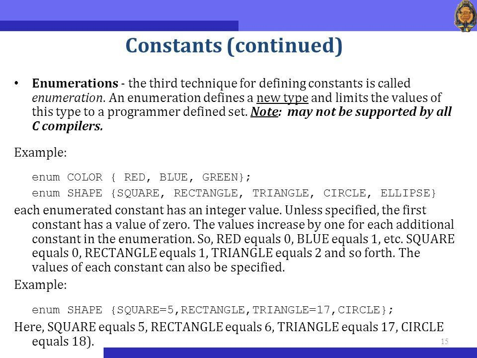 Course «Programming in C++» Introduction To Programming for ...