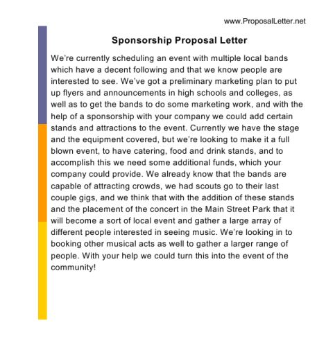 Proposal Letter Sample Is a Great Help for Many Aspirants ...