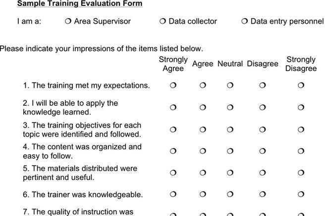 Evaluation Forms For Trainers [Nfgaccountability.com ]