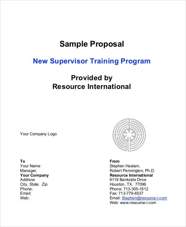 9+ Program Proposal Templates -Free Sample, Example Format ...