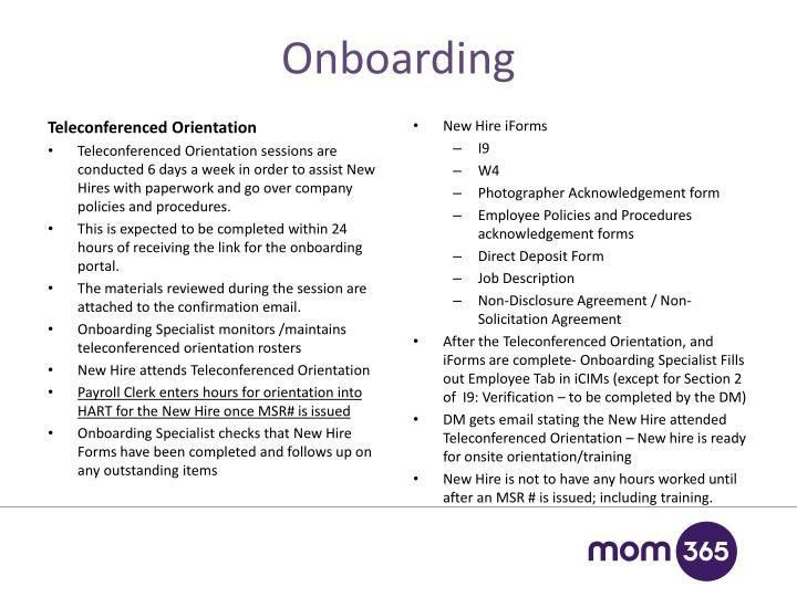 PPT - Onboarding & Credentialing 101 Mom365 PowerPoint ...