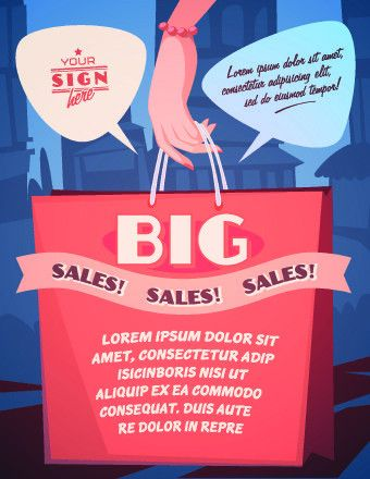 Sales promotion poster design vector 05 - Vector Business free ...
