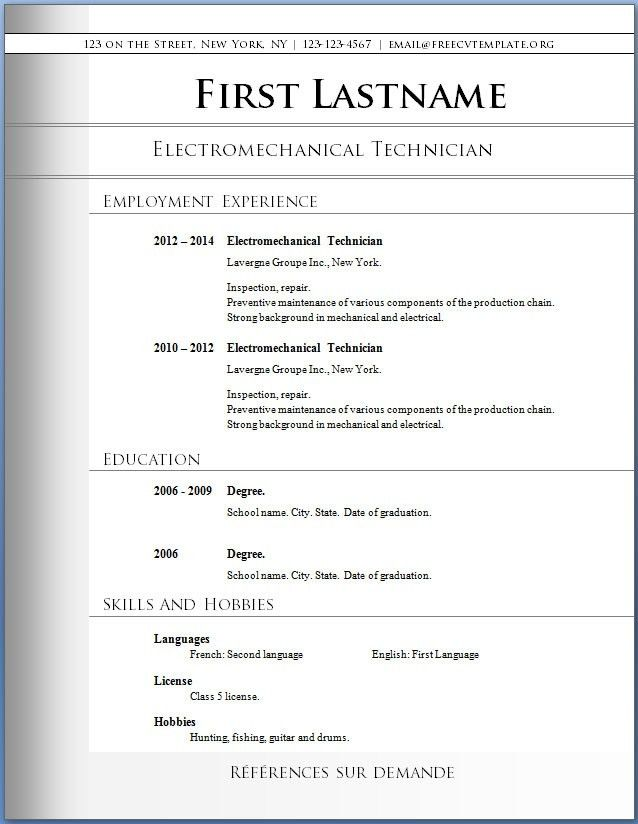 Free Resume Format Download | Health Symptoms And Cure.com
