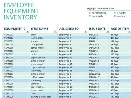 Equipment Inventory Template. Equipment Inventory Template ...