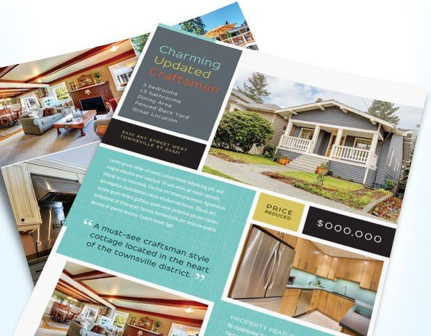 Real Estate Flyers That Get Noticed | Graphic Design : Ideas ...