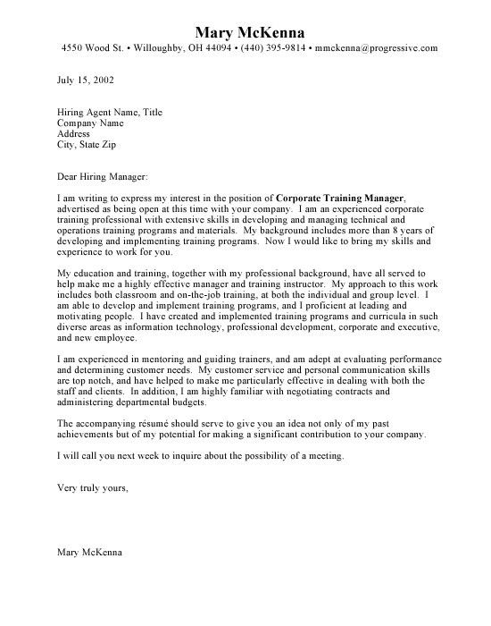 Professional Cover Letter Sample | haadyaooverbayresort.com