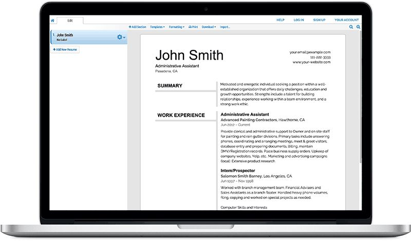 Free Resume Builder • Resume Builder • Super-Resume