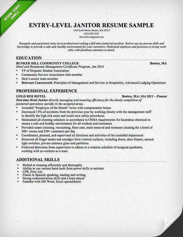 13+ [ Doorman Resume Sample ] | Housekeeping Resume Objective ...