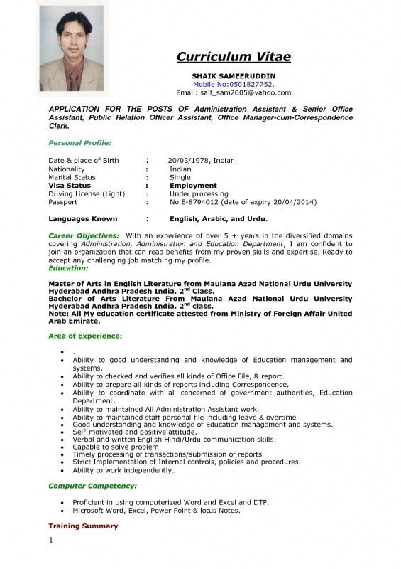 Resume For Job Application Format. Format Of A Job Resume Resume ...