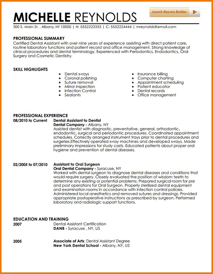entry level freshers dental assistant resume. free dental ...