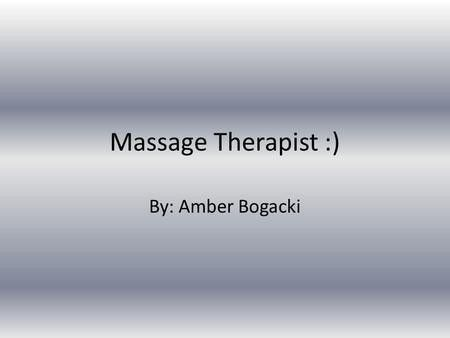 Sport & Exercise Massage - ppt video online download
