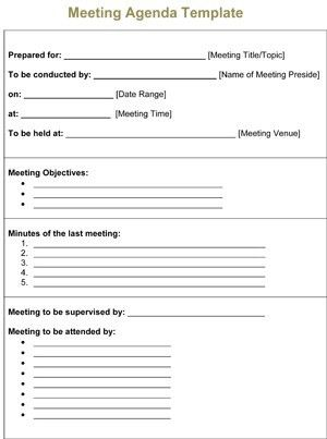 Meeting Agenda Template | 8ws - Templates & Forms