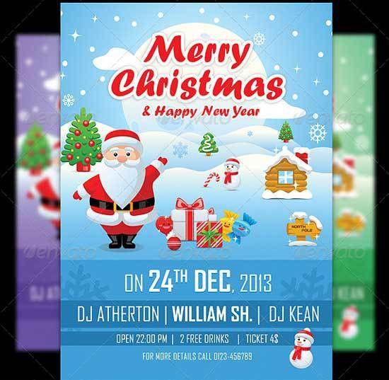 20 Best Merry Christmas Flyer Templates - freshDesignweb
