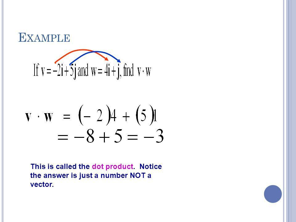 6-4 Vectors and dot products - ppt download