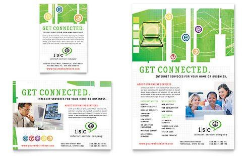 Internet Service Provider | Print Ad Templates | Technology