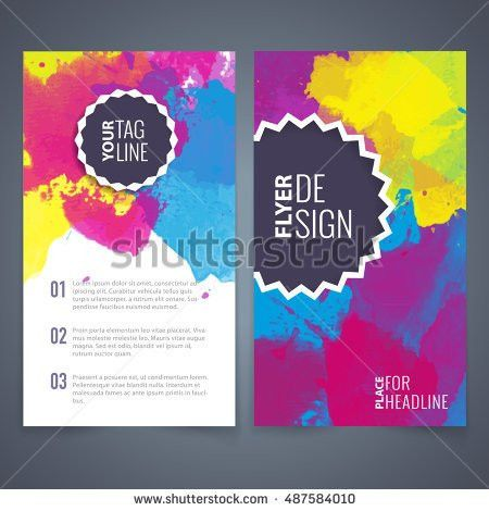 Abstract Vector Brochure Watercolor Template Flyer Stock Vector ...