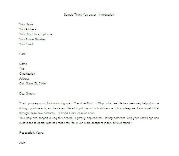 Thank You Letter For Appreciation – 6+ Free Sample, Example Format ...