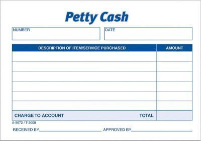 "Adams® Petty-Cash Receipt Book, 5"" x 3-2/5"", 1 Part 