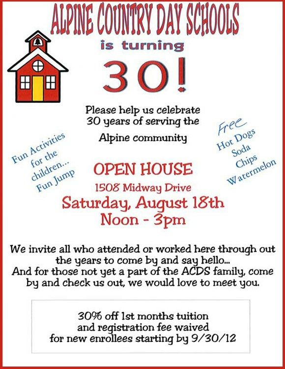 Alpine Country Day Schools is Turning 30! Celebrate With Us at Our ...