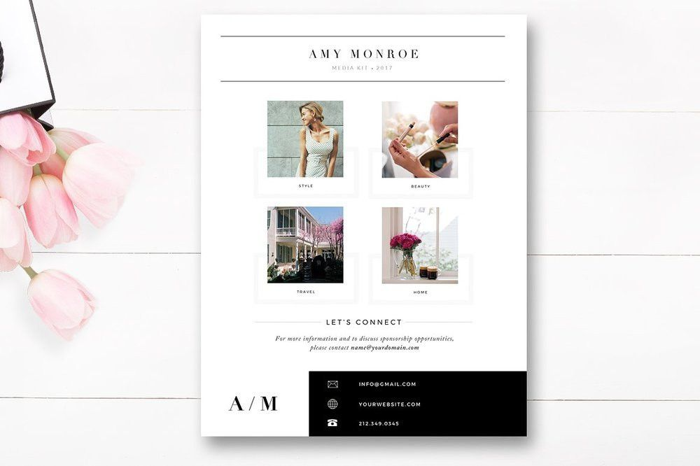 Media Kit Template 4 Page, Blogger Media Kit — By Stephanie Design