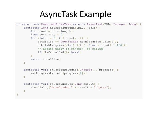 Android async task