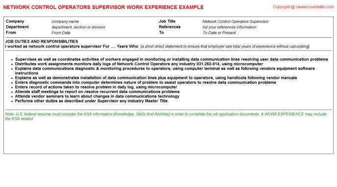 Slitter Operators CV Work Experience Samples