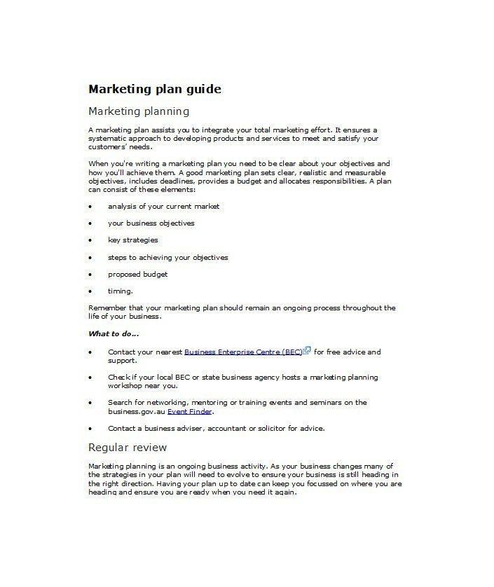 33 Free Professional Marketing Plan Templates – Free Template ...
