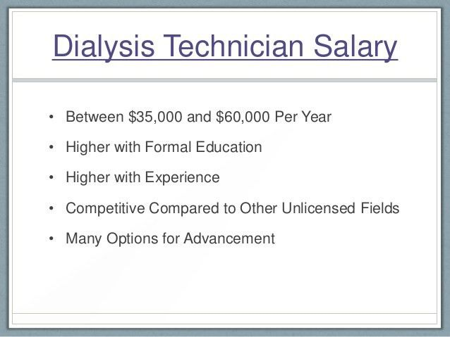 Dialysis Technician Definition