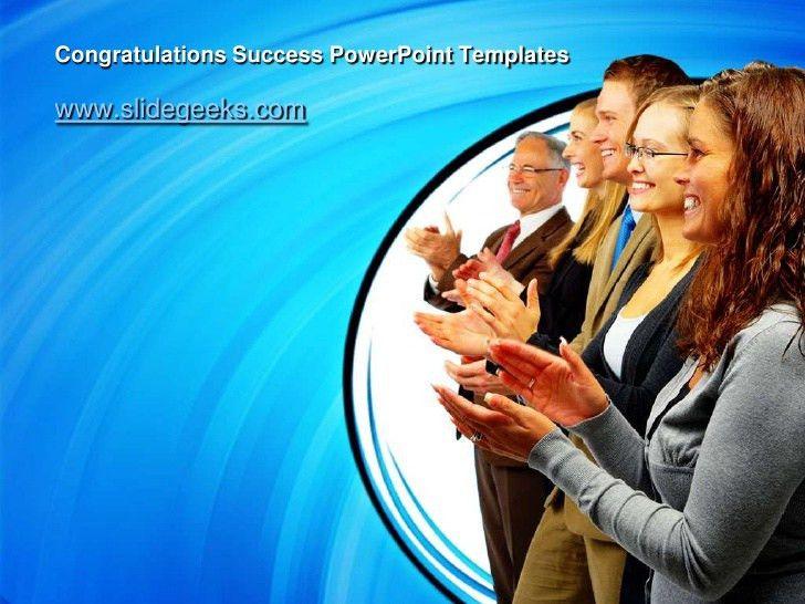 Congratulations success power point templates