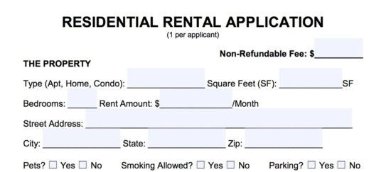 Free Rental Application Form - PDF | Word | eForms – Free Fillable ...