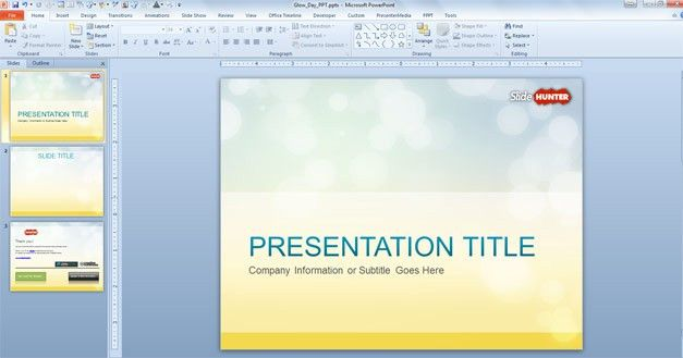 Free Glow PowerPoint Templates
