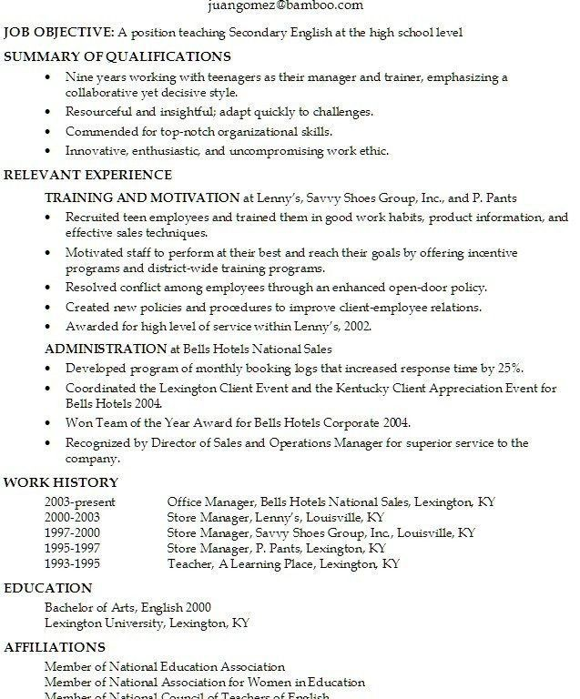 Teenage Resume Example. Fotos High School Resume Templates ...
