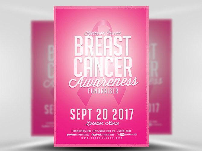 Cancer Flyer Template. breast cancer awareness month flyer ...