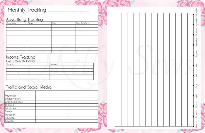 2016 DIY Planner - Blog Planner Free Printable Pages - Melly Sews