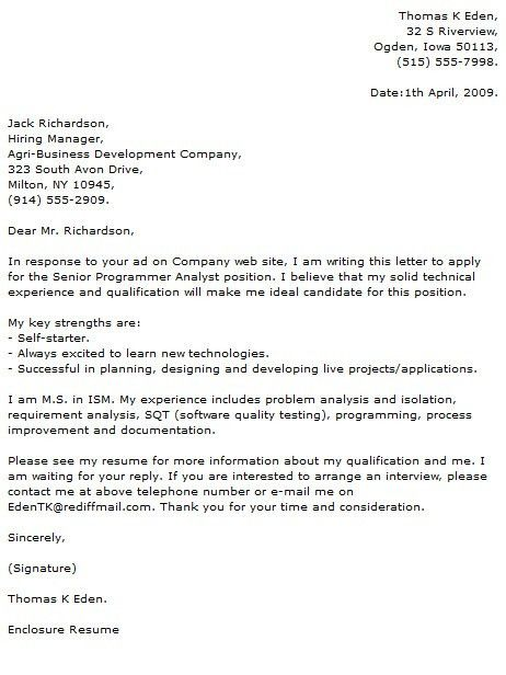 Cover letter for financial consultant position - Assistant ...