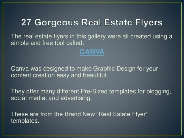 27 Gorgeous Real Estate Flyer Templates - you can create fast and free