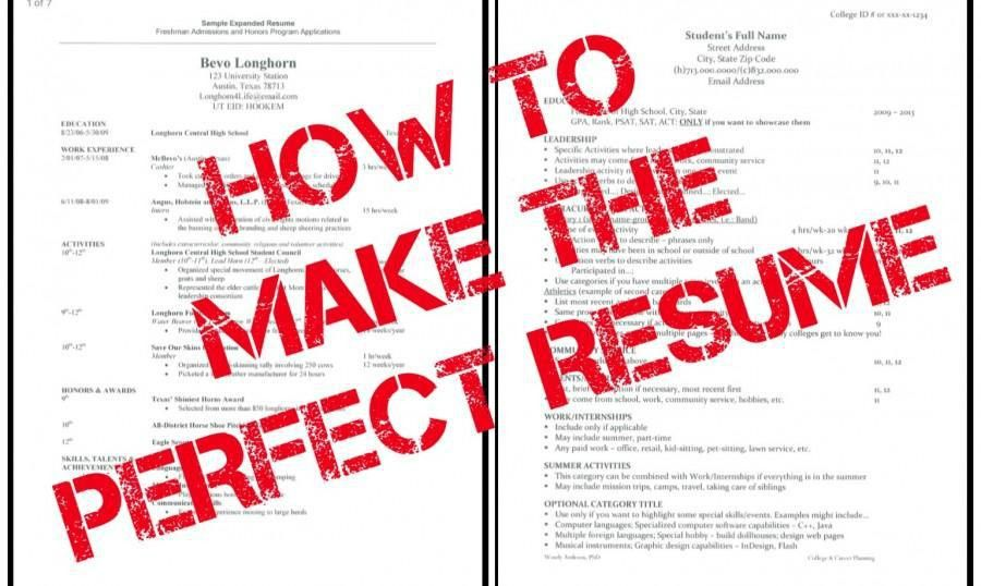 How to Build the Perfect Resume – CavsConnect