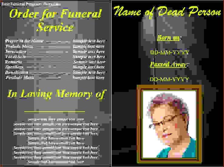 7 free funeral program template downloadAgenda Template Sample ...
