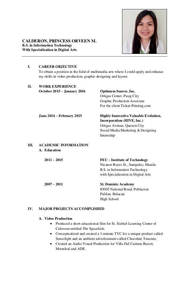 Formal resume - CALDERON
