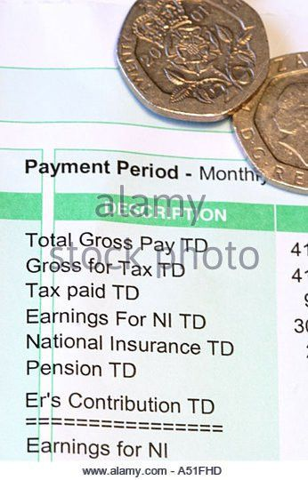 Payslip Pay Slip Wage Packet Stock Photos & Payslip Pay Slip Wage ...