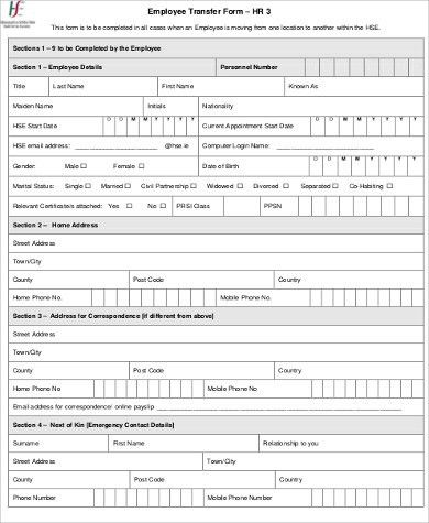 Employee Details Form Sample Employee Record Templates 32 Free