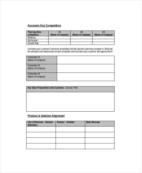 Sales Forecast Template - 6+ Free Word, PDF Documents Download ...