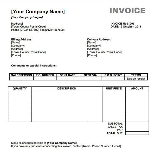Free Printable Invoice Maker – Template Design