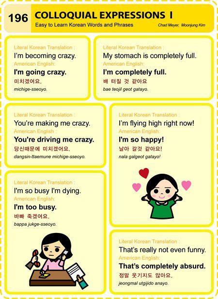 Korean Language Lesson: Colloquial Expressions Part 1, 2, 3, 4 & 5 ...
