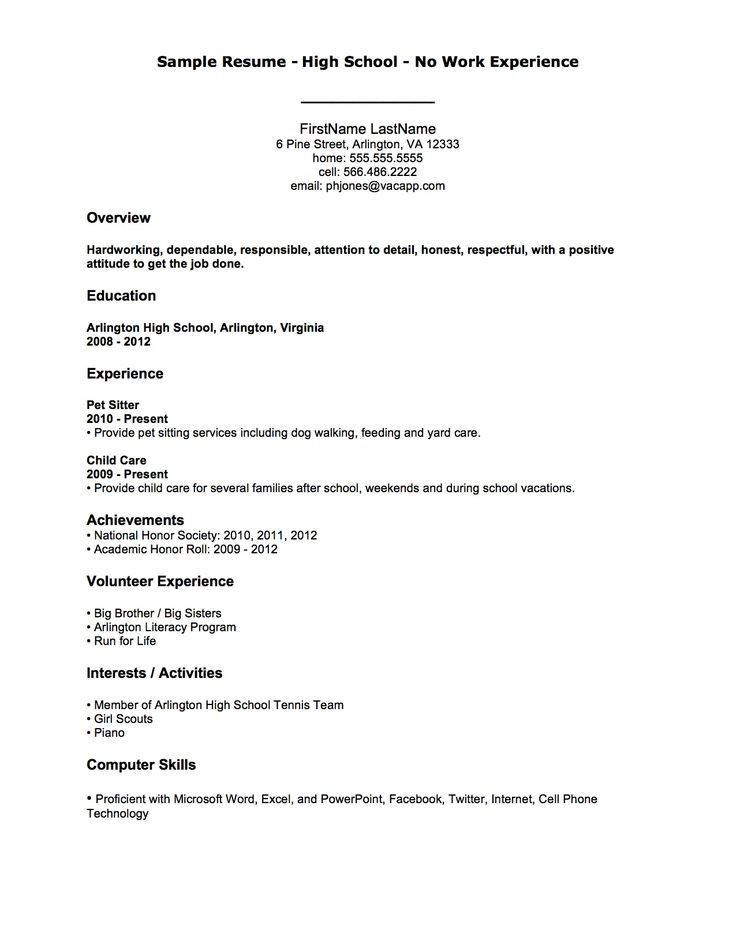 Work Experience Resume Template. Not Getting Interviews? We Can ...