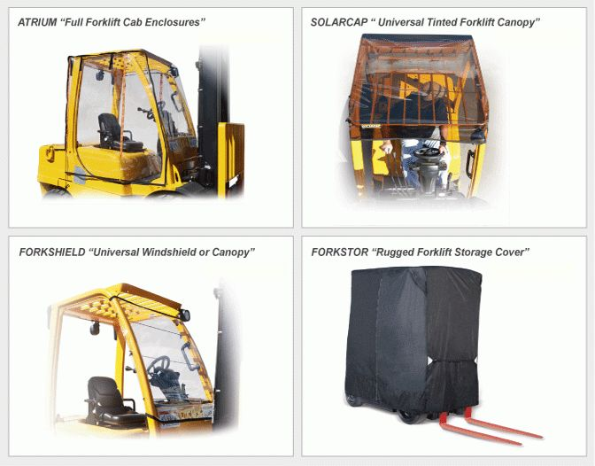 Durable Forklift Covers Manufacturer | Sun & Rain Enclosures Wholesale
