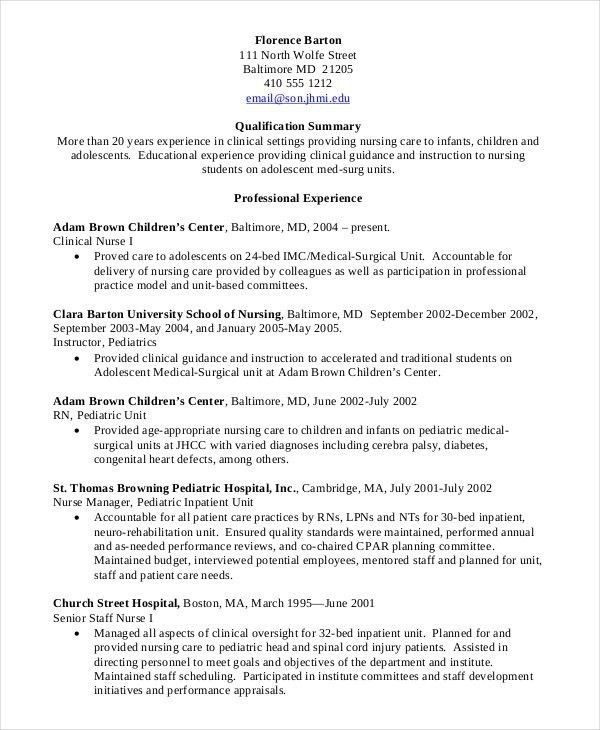 Nursing School Resume Examples - Best Resume Collection
