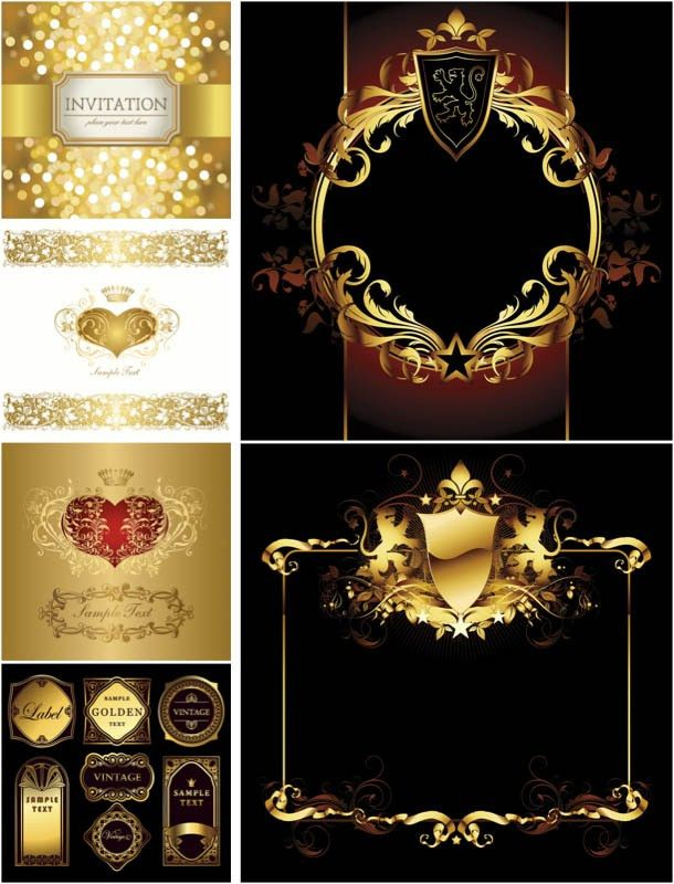 Ornate invitation card templates vector | Vector Graphics Blog