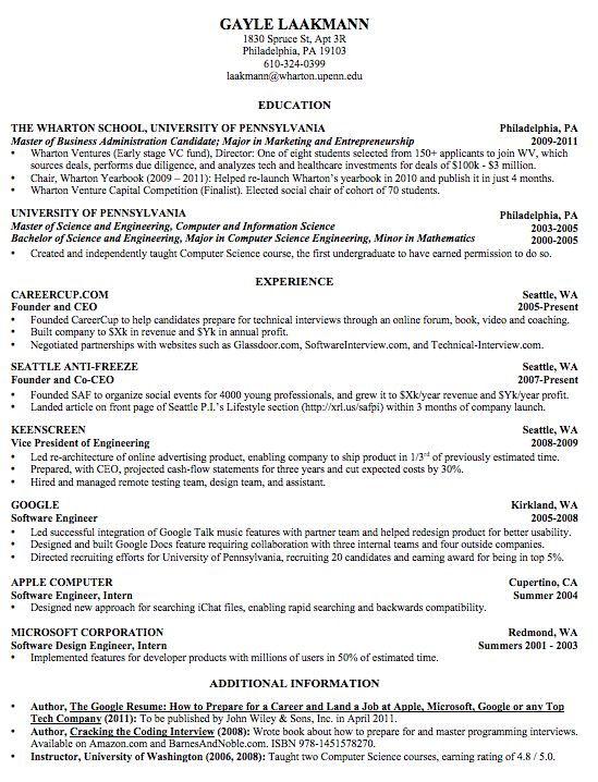 The best formats for a resume - Quora